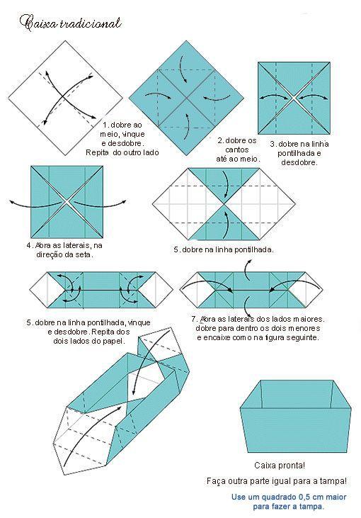 Artesanato Em Eva Moldes E Passo A Passo Pap Diagrama Caixa Origami