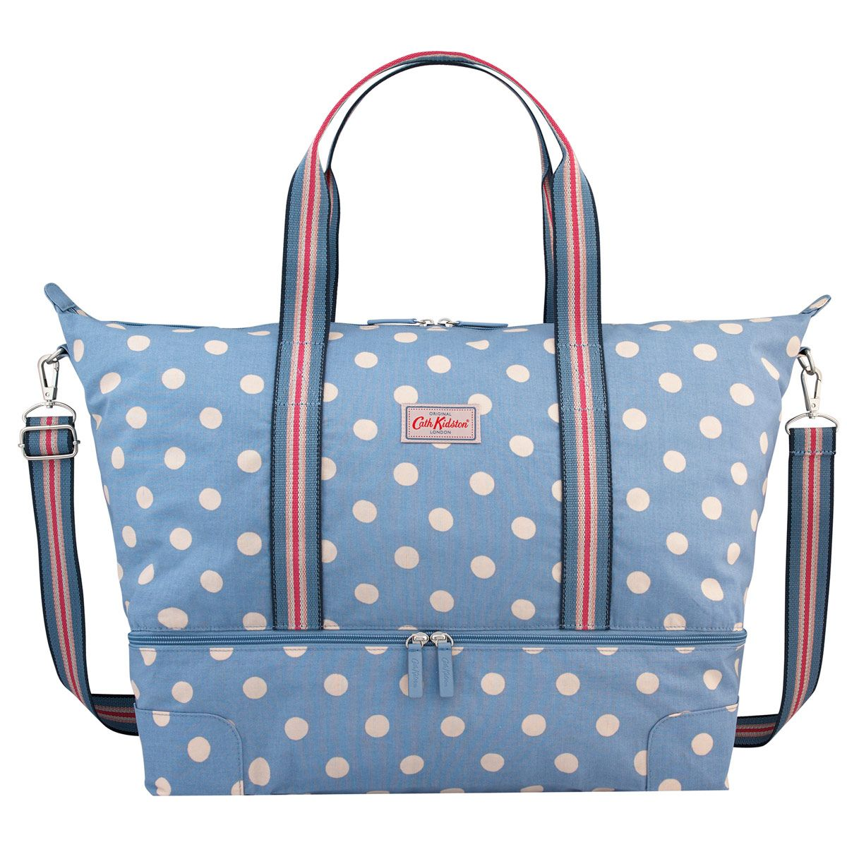 Button Spot Foldaway Double Decker Travel Bag | Travel & Weekend ...