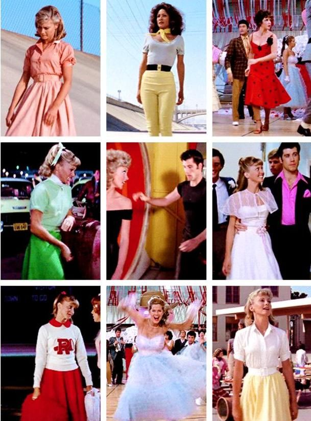 Grease Costumes 1970s Potrayal Of 1950s Pinteres
