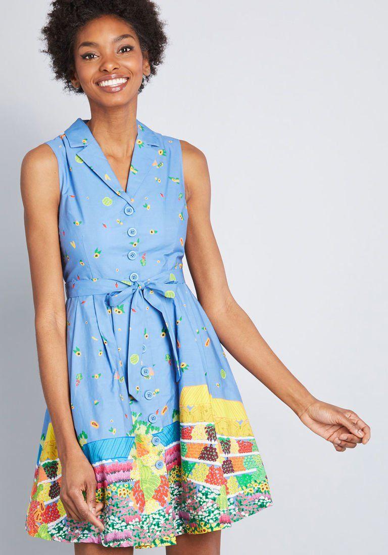 5403881110a Community Brunch Shirt Dress in XXS - Sleeveless A-line Knee by ModCloth