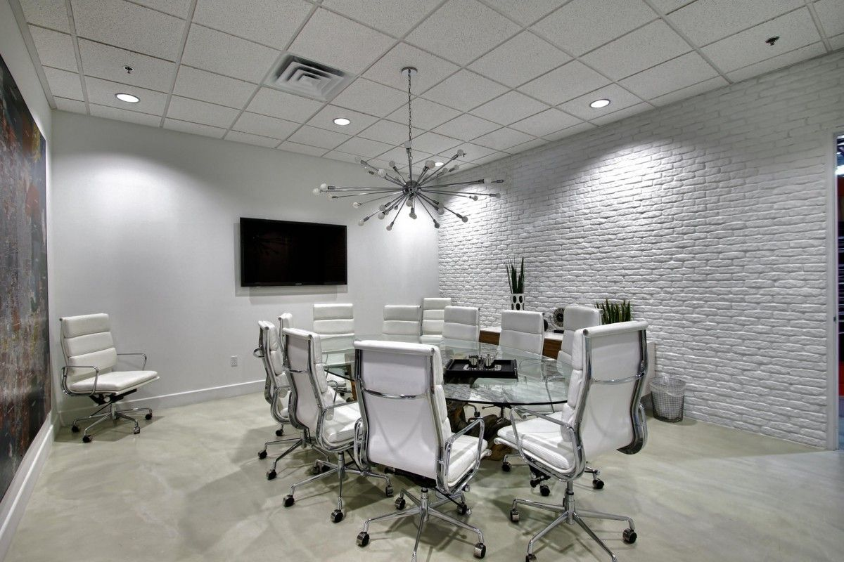 Industrial style office space industrial interior design for Interior designs for office space