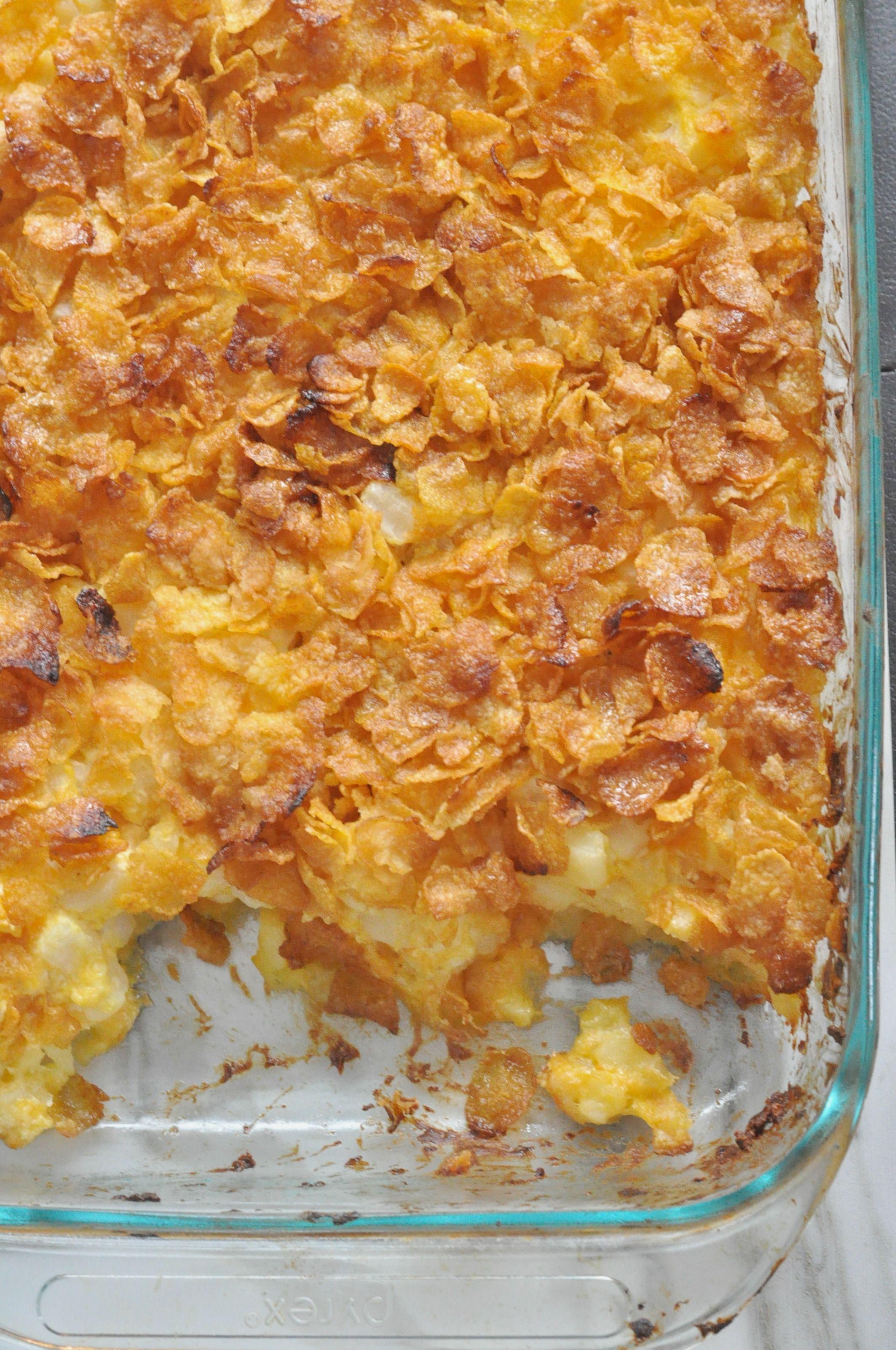 Corn Flakes Potato Casserole Recipe Cornflake Potatoes Corn Flakes Cornflake Potato Casserole