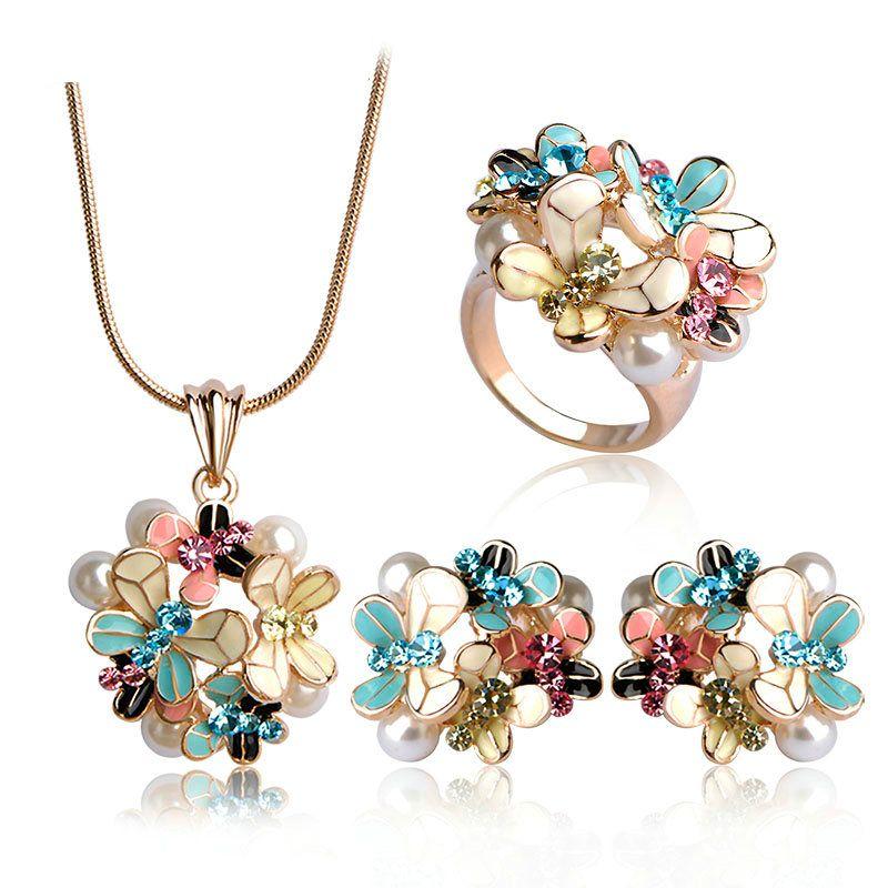 6b673d4c9 SHOP NOW! popoki.biz #enamel #flower #jewelery #necklace #ring #earring  #jeweleryset #romantic #elegant #spring #summer #2018