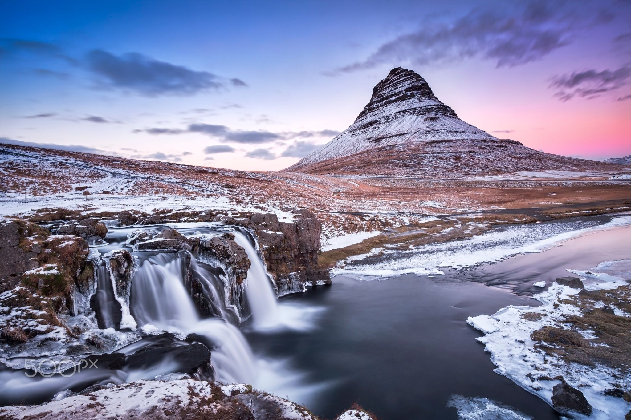 Feeling The Cold - This was captured just after the sunset set at kirkjafell in iceland