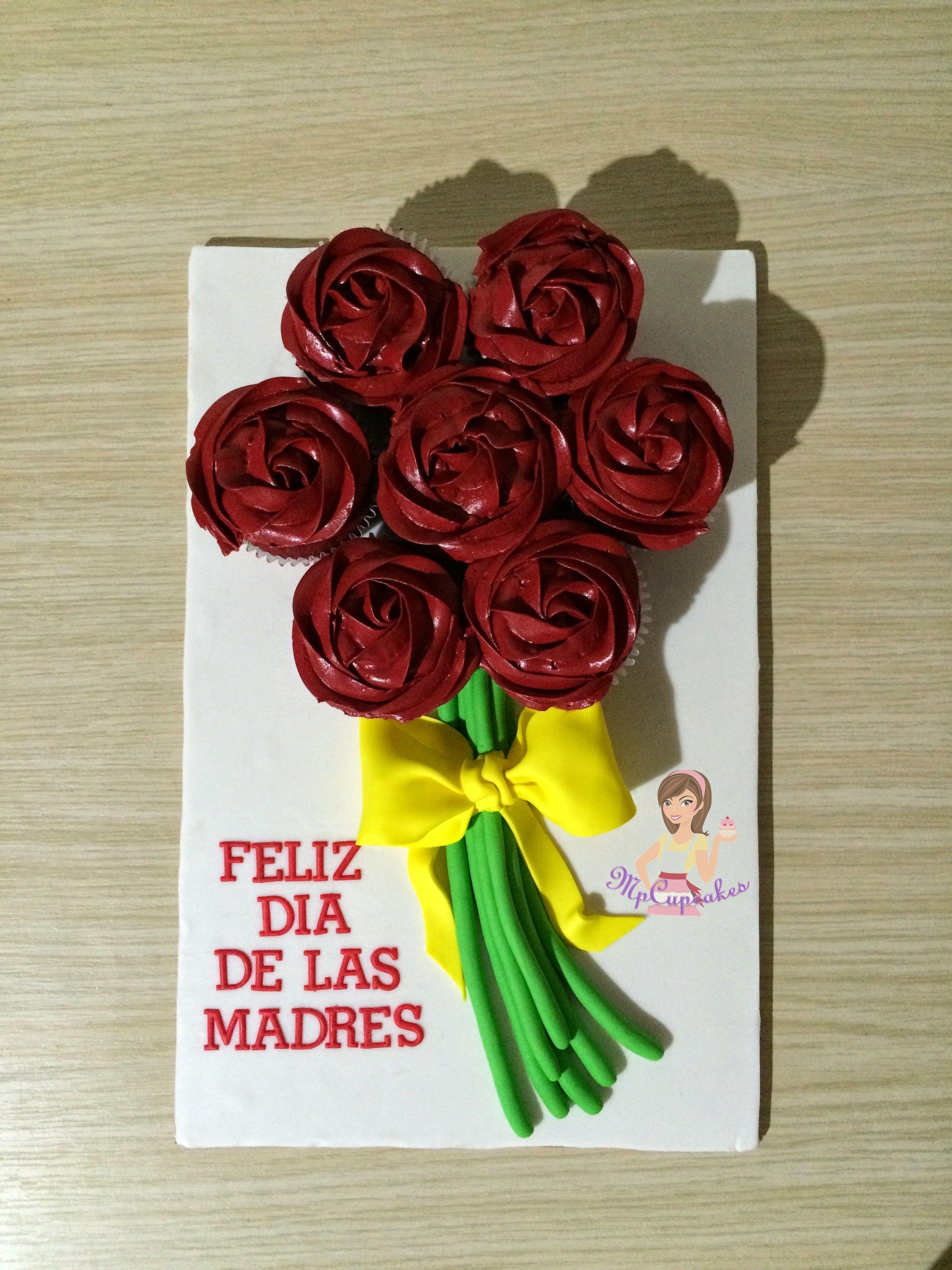 Ramo de flores en cupcakes / dia de la madre
