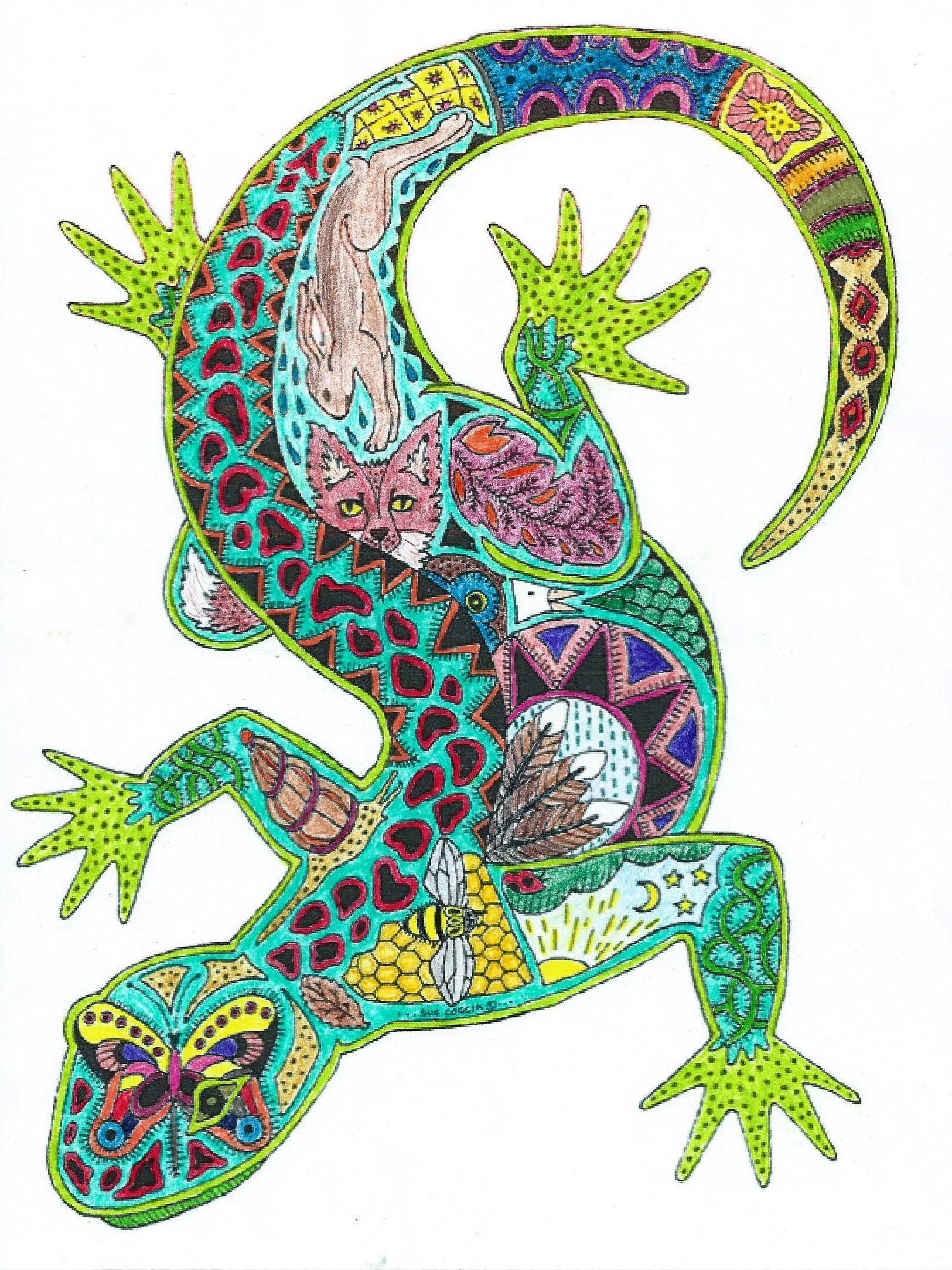 lizard beautiful animals pinterest lizards zentangles and mandalas. Black Bedroom Furniture Sets. Home Design Ideas