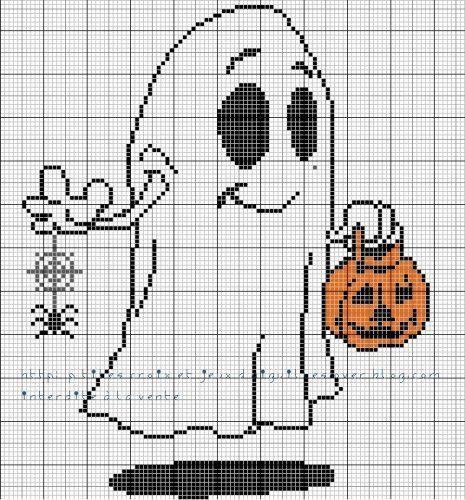 grille gratuite   Modèles point de croix facile, Halloween, Point de croix