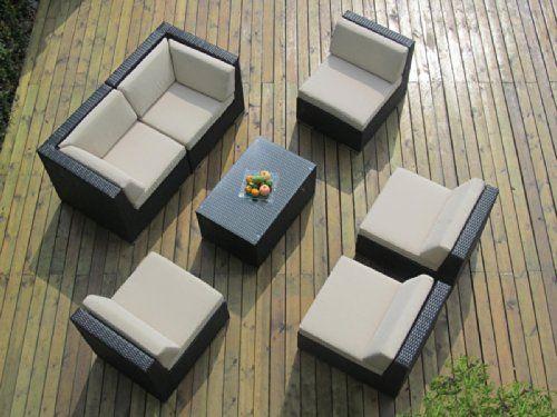 Genuine Ohana Outdoor Patio Wicker Furniture pc Sofa Set