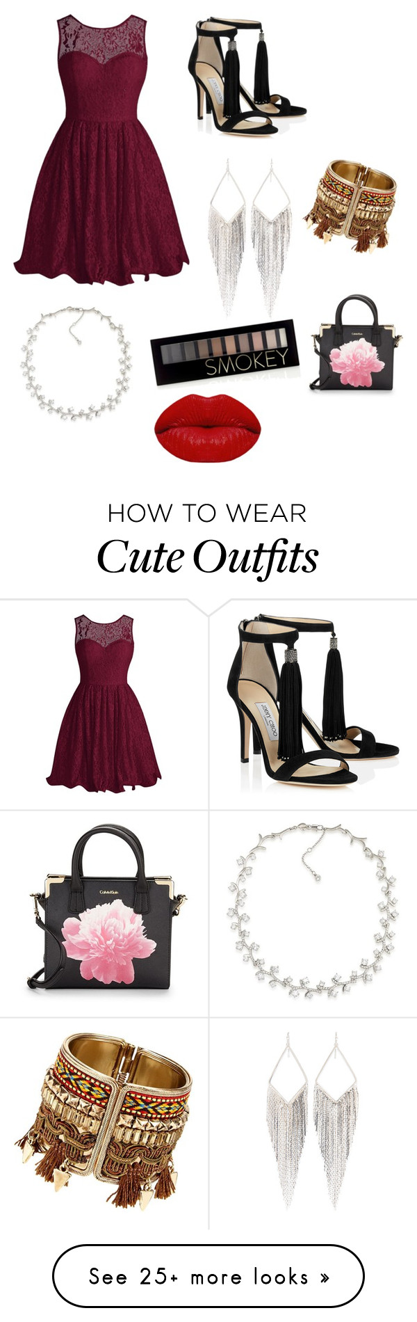 """Cute Party Outfit"" by lsantana13 on Polyvore featuring Jules Smith, Carolee, Forever 21, Winky Lux and Calvin Klein"