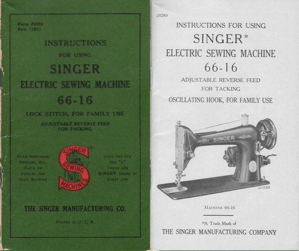 11 95 for copy models 66 16 sewing and embroidery pinterest rh pinterest com singer model 66 manual singer model 66 manual
