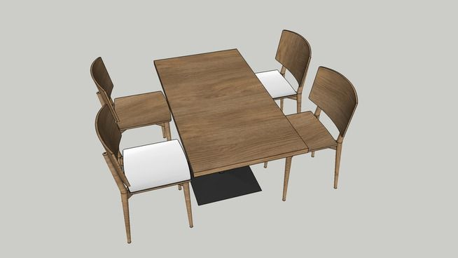Table With Chairs 3d Warehouse Chair Table Furniture
