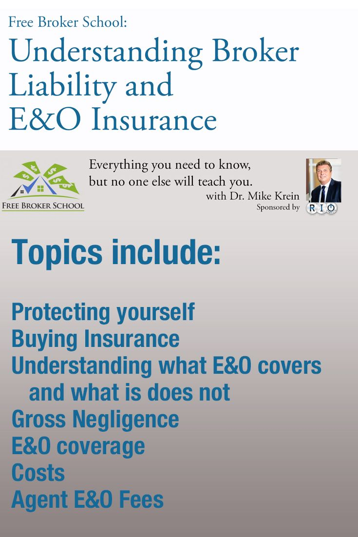 Understanding Liability And E O Insurance Understanding Brokers