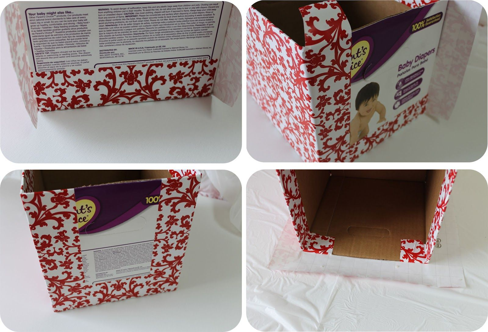 {DIY} How to Recycle Cardboard Boxes into Pretty Storage