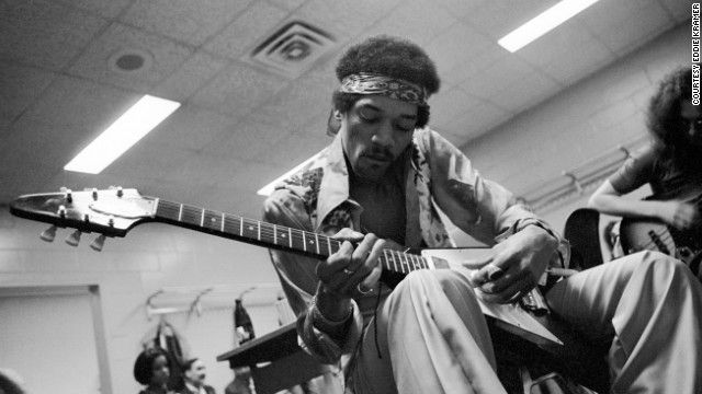 Jimi with flying V