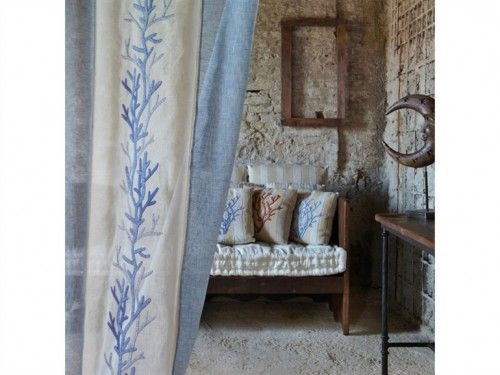 tende corallo blu   RICAMO   Pinterest   Towels, Pillows and House