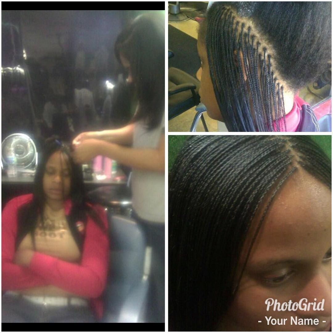 Shout Out To The Old School Micro Braids I Ll Never Do Again 7 Years Ago Micro Braids Micro Braids Hairstyles Micro Braids Styles