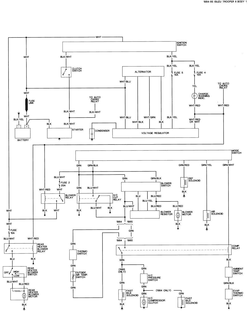 Isuzu Rodeo Stereo Wiring Diagram Trailblazer Car Altima Rodeo