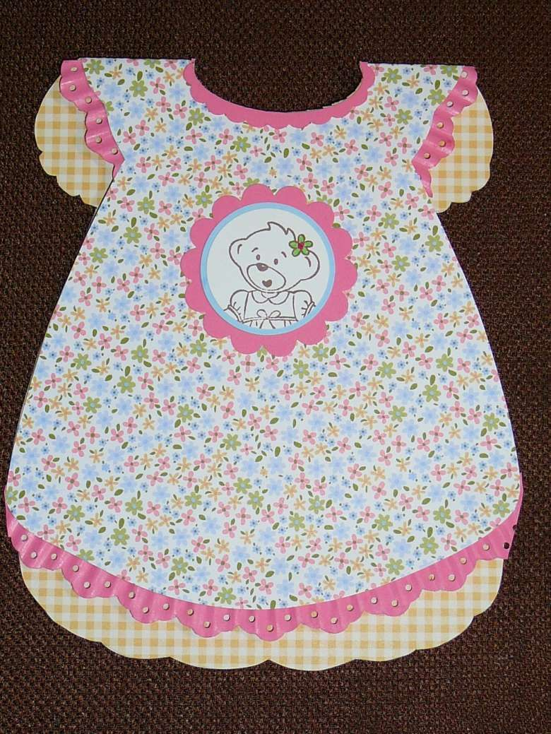 Vestido Baby Tarjeta Vestido Para Para ShowerVestidos Tarjeta Baby QdCshrtx