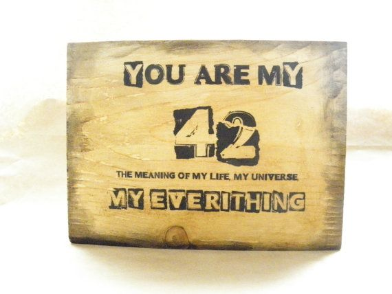 Image transfer onto wood, wooden plaque You are my 42