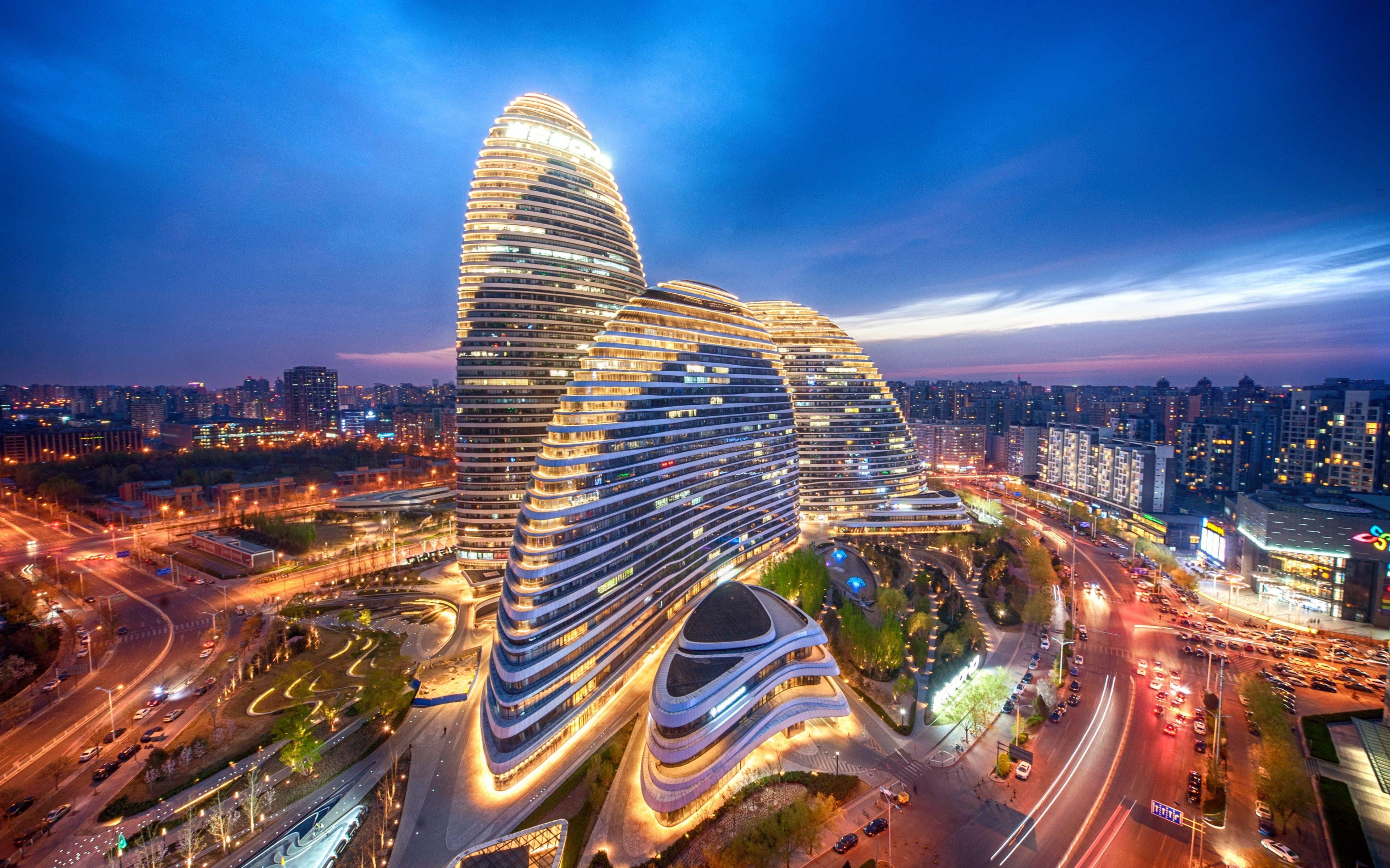 Beijing China CBD Creative Building Wangjing SOHO #4K #wallpaper # hdwallpaper #desktop in 2020 | Beijing, Beijing city, City architecture