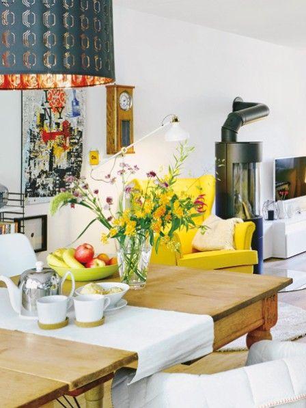 Gro es wohmzimmer umstyling mit wohnidee und ikea wohnzimmer wohnen wohnzimmer und haus - Yellow mobel hamburg ...