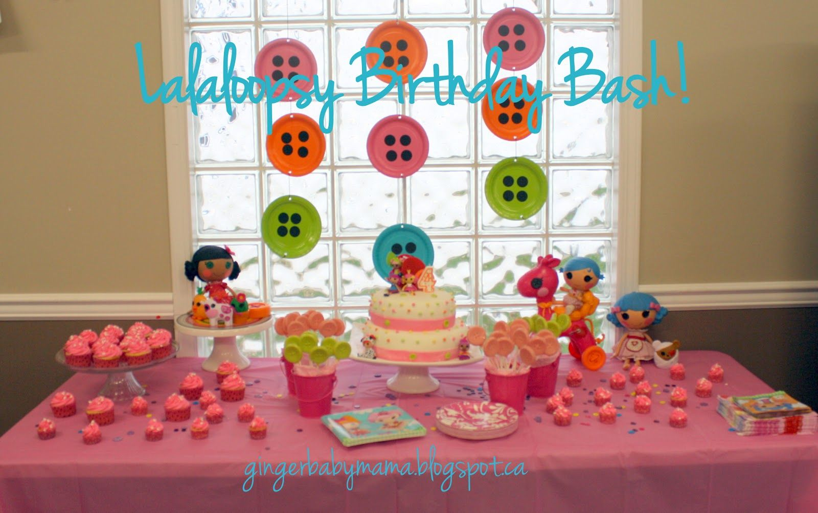 Lalaloopsy birthday party decorations  sweet table. Lalaloopsy birthday party decorations  sweet table