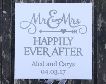 Mr and Mrs | Happily Every After | Extra Large | Wedding Keepsake ...
