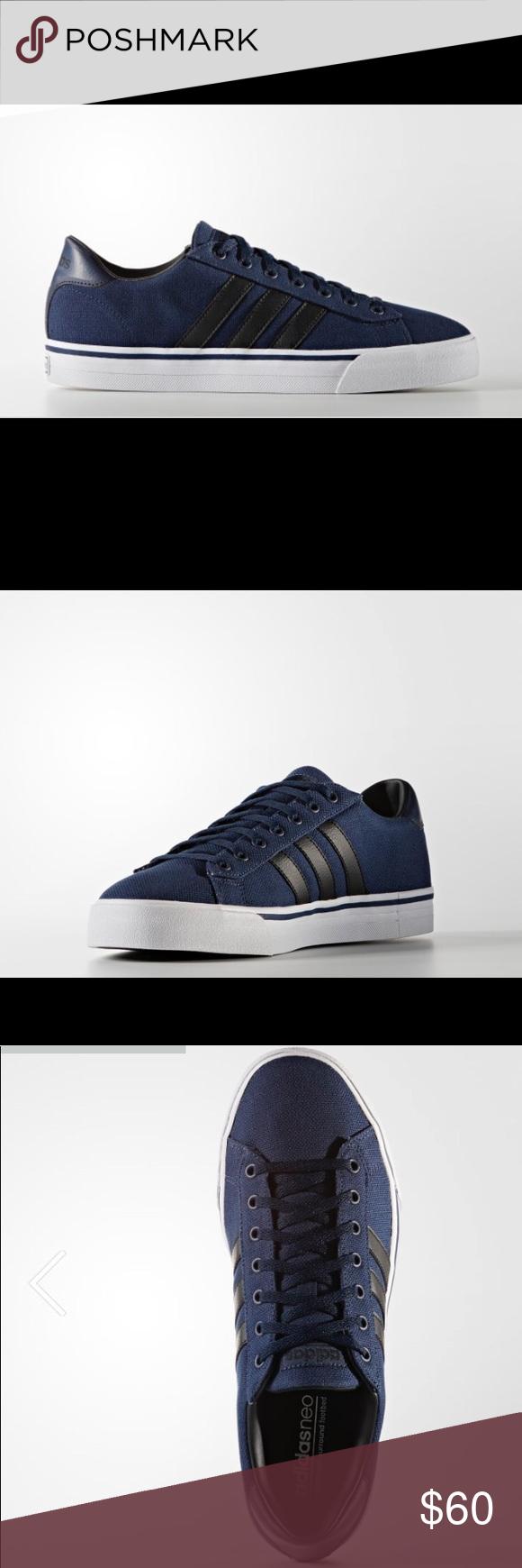 New Adidas Neo Cloud foam Blue Leather Sneaker Adidas Neo ...
