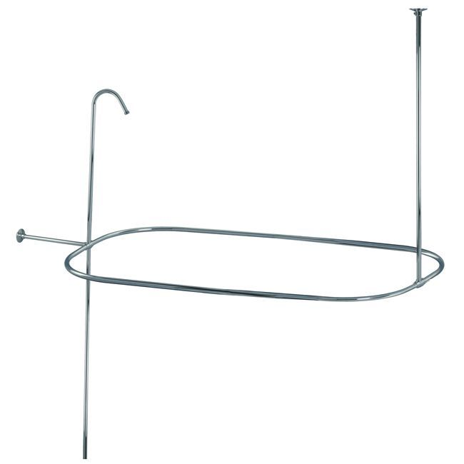 Shower Curtain Rod Riser Set By Kingston Brass