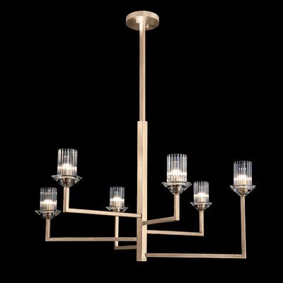 Fine Art Lamps Neuilly 6 Light Shaded Tiered Chandelier Finish