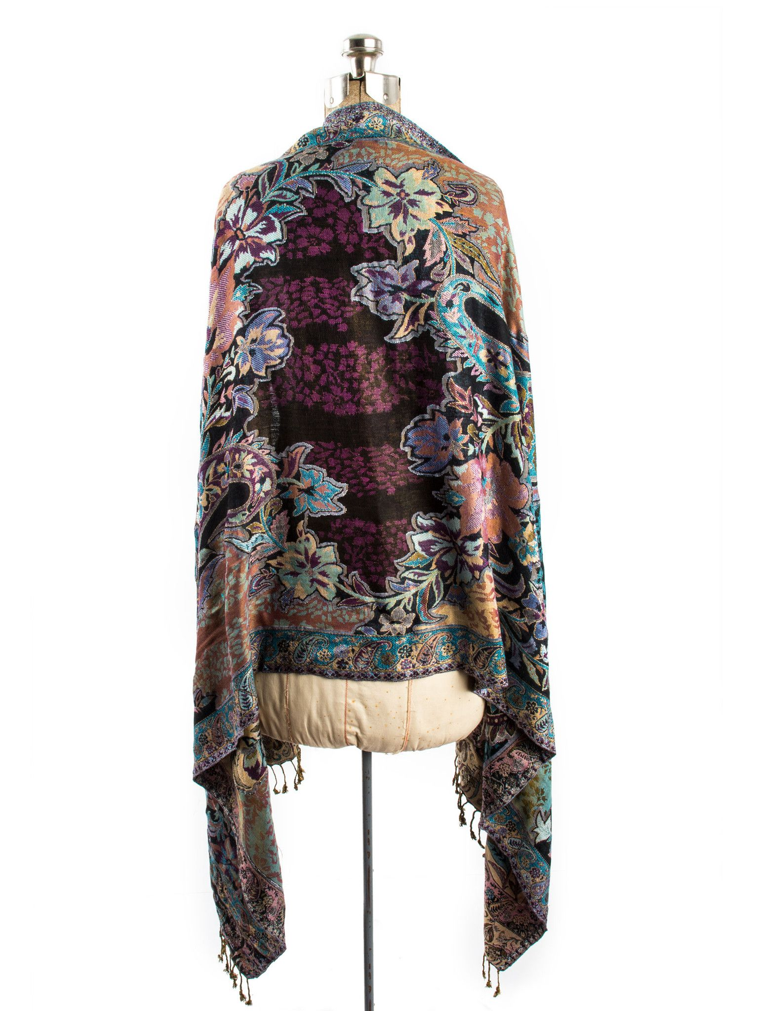 ca5379cf1 Bethshaya Reversible Cashmere Silk Pashmina Scarf, hand made in India
