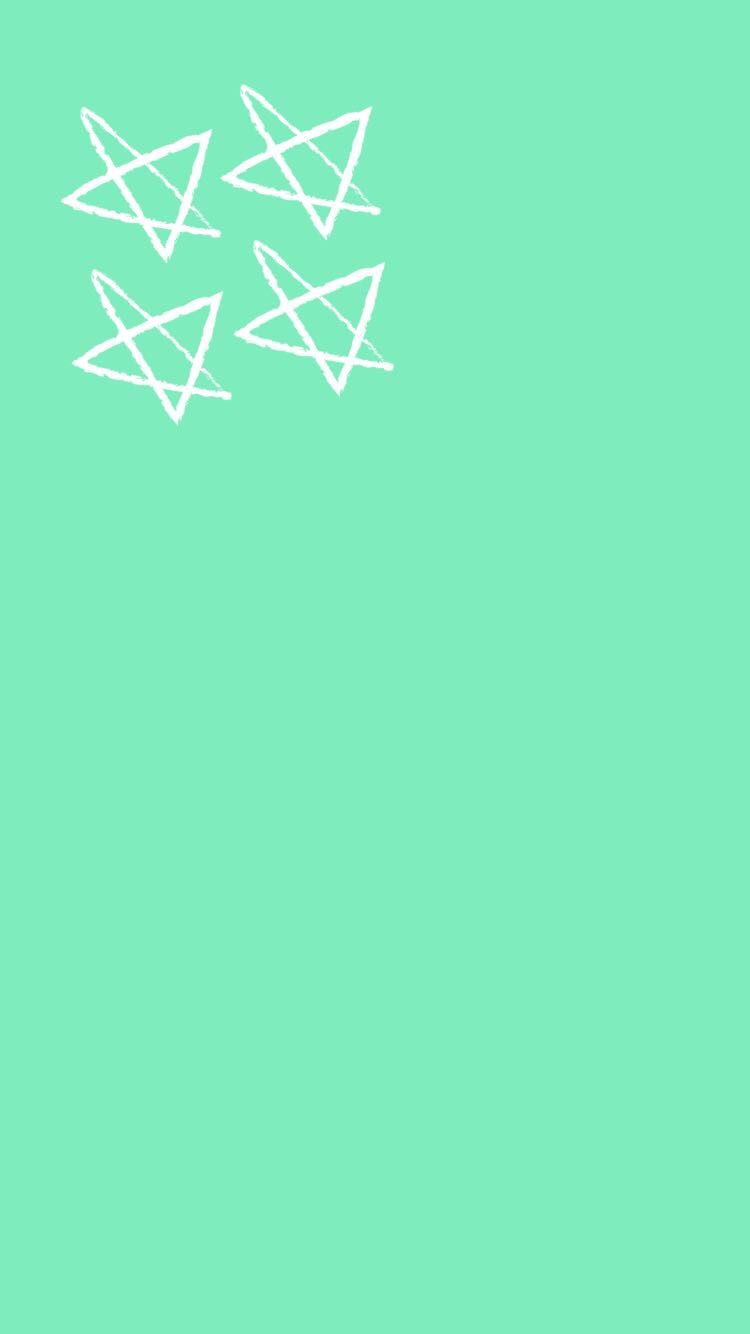 Cute Blue Green Star Snapchat Background Wallpaper Iphone