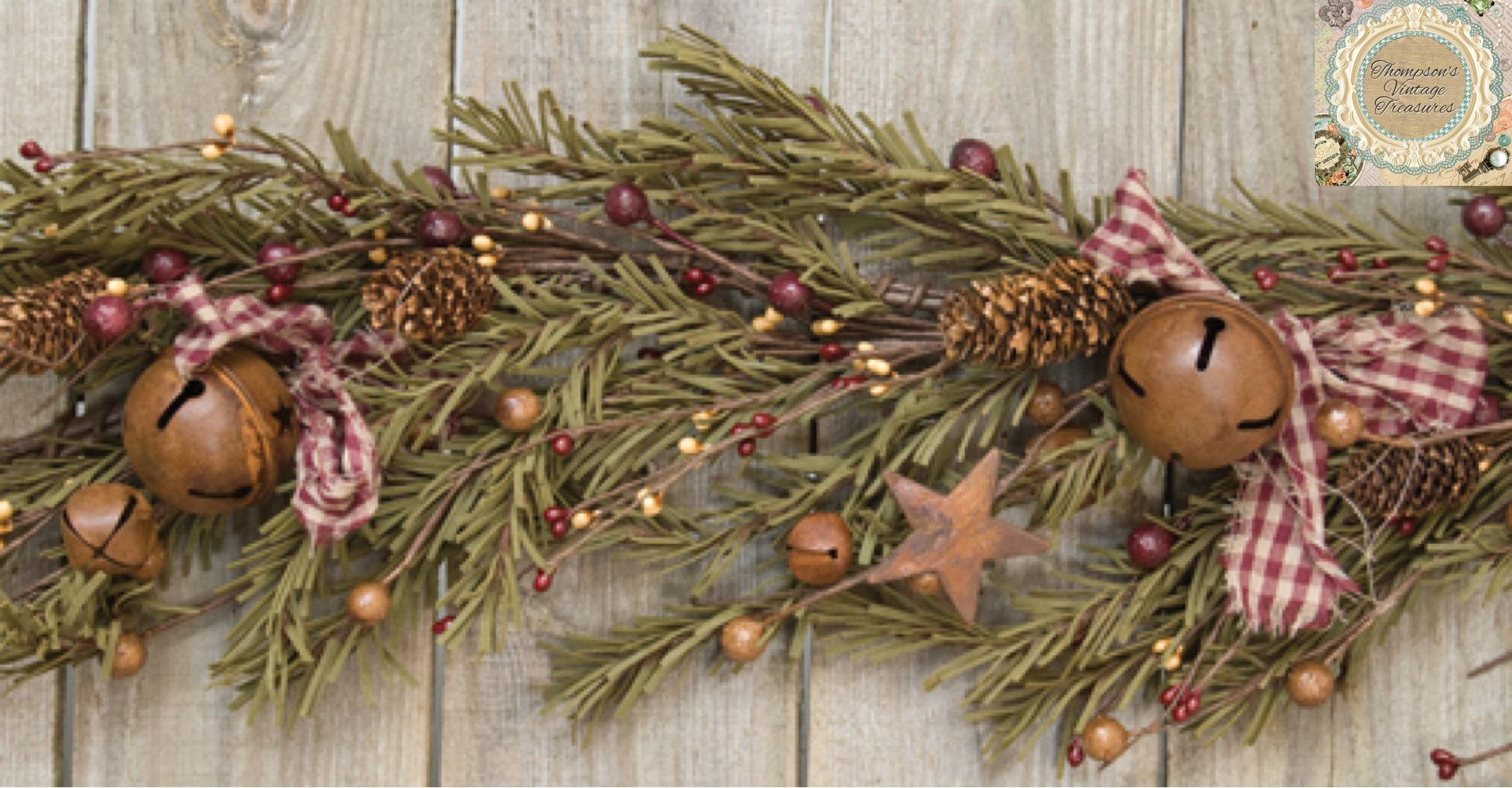 Our Rustic Holiday Pine Garland Is The Perfect Accent For Mantels Tablescapes And More T Country Christmas Decorations Christmas Garland Primitive Christmas