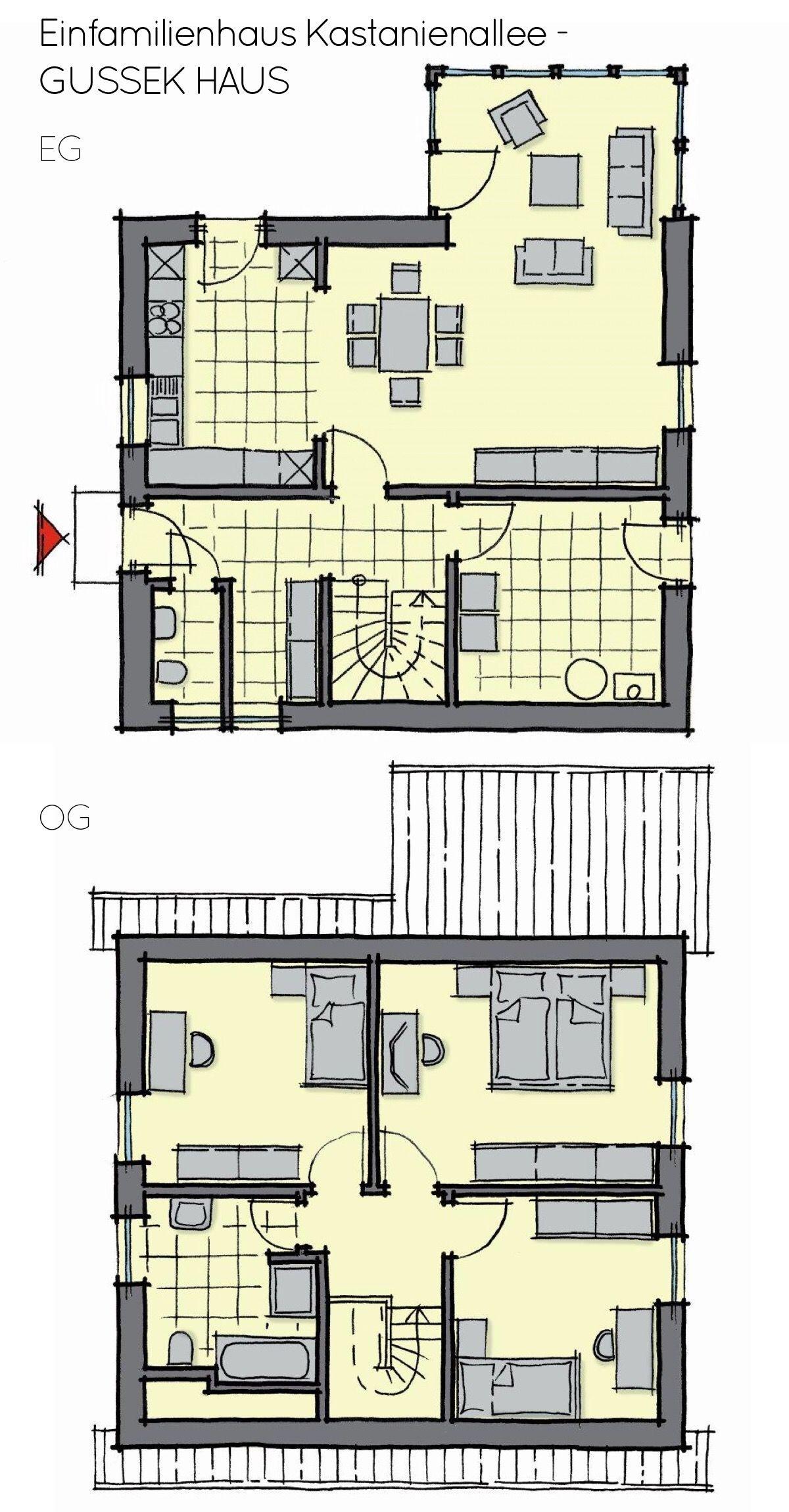 Grundriss Einfamilienhaus Mit Wintergarten Erker Anbau Satteldach Architektur 4 Zimmer Ca 120 Qm O Grundriss Einfamilienhaus Anbau Haus Anbau Gartenhaus