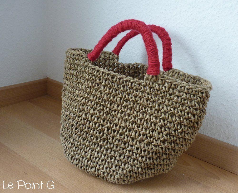 Image Of Patron Sac Cabas En Corde Au Crochet Carteras