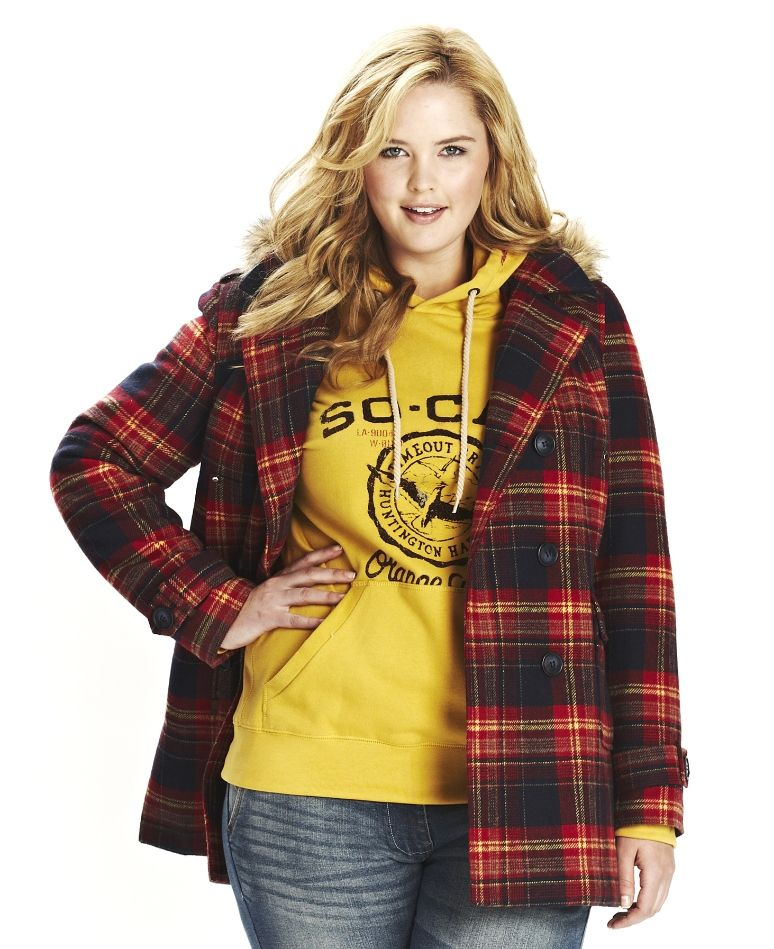"""""""Timeout"""" Timeout Check Hooded Jacket at Simply Be"""