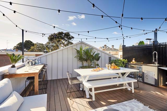 The Block 2019 Terrace Redo Room And Garage Reveals Rooftop Terrace Rooftop Garden Desi In 2020 Rooftop Terrace Design Rooftop Patio Design Roof Terrace Design