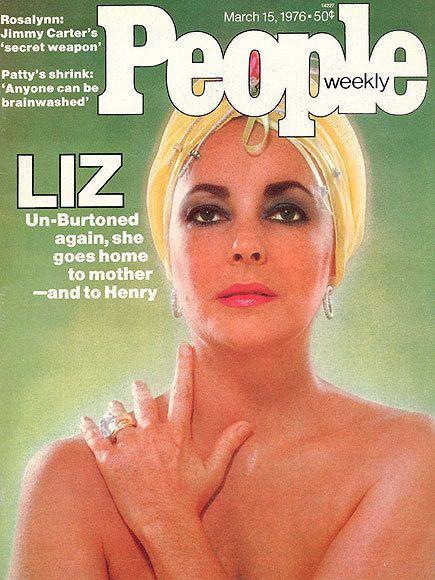Cover of People Magazine with ElizabethTaylor
