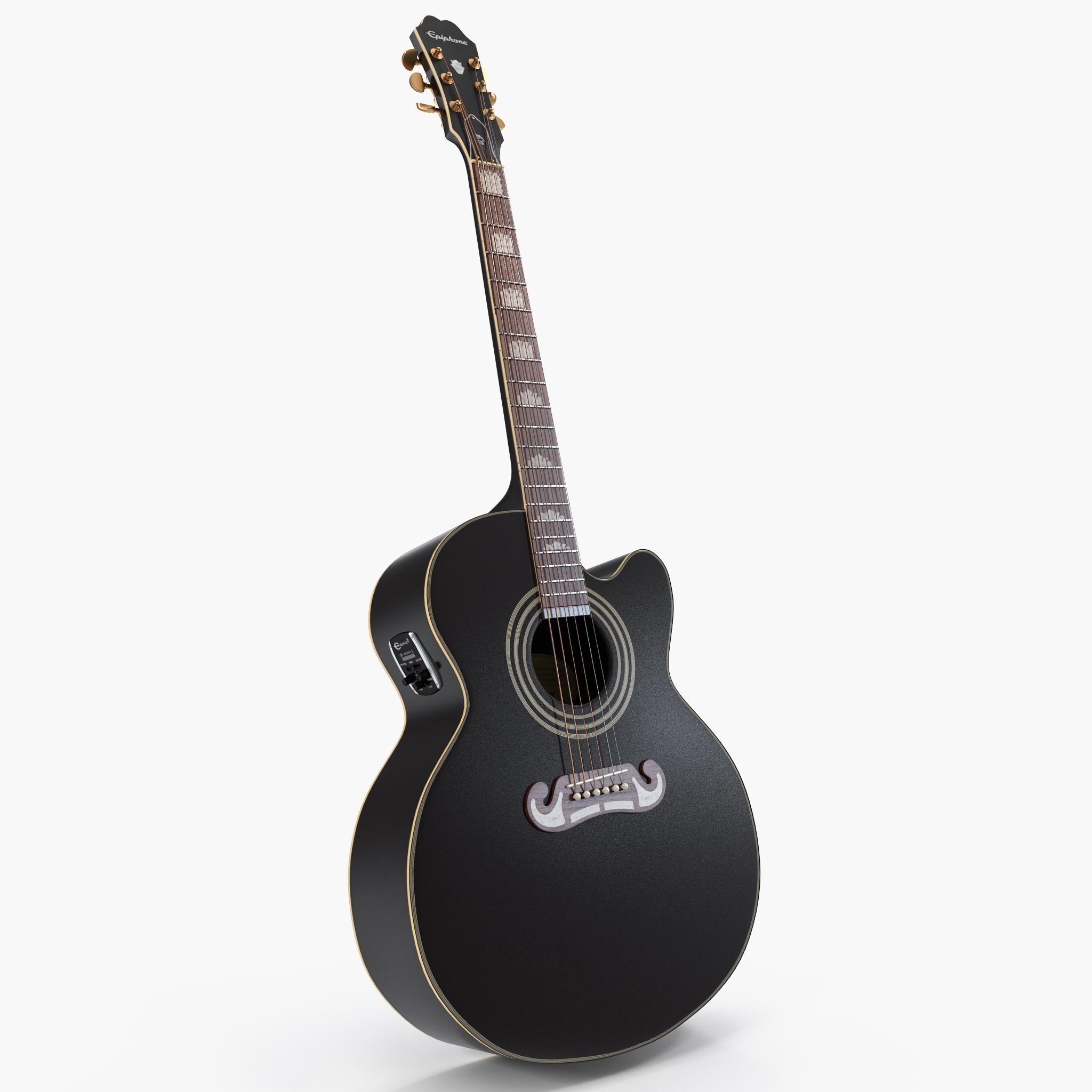 Electro Acoustic Guitar Black 3d Model Ad Acoustic Electro Guitar Model Electro Acoustic Guitar Acoustic Guitar Guitar