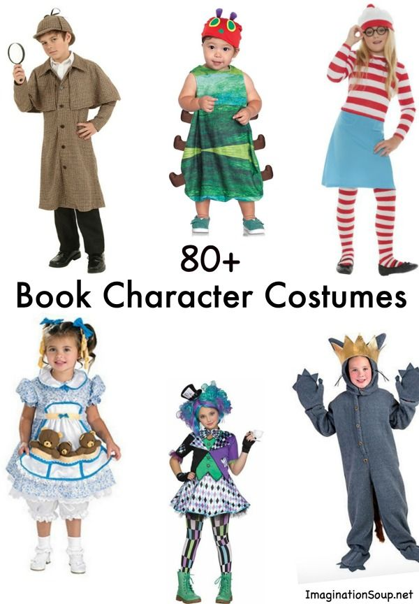 Top 10 Character Design Books : Favorite book costumes for kids halloween character