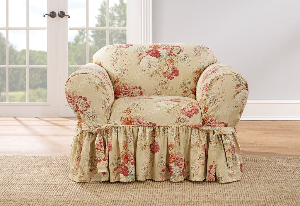 Fine Ballad Bouquet By Waverly One Piece Chair Slipcover Alphanode Cool Chair Designs And Ideas Alphanodeonline