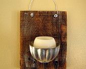 Reclaimed Wood Hanging Single Candle Sconce