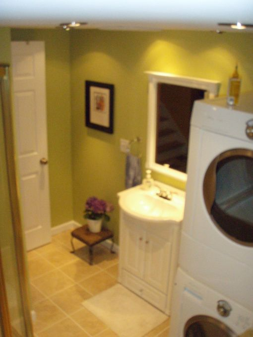 Bathroom laundry room combo on pinterest laundry rooms for Bathroom and laundry designs