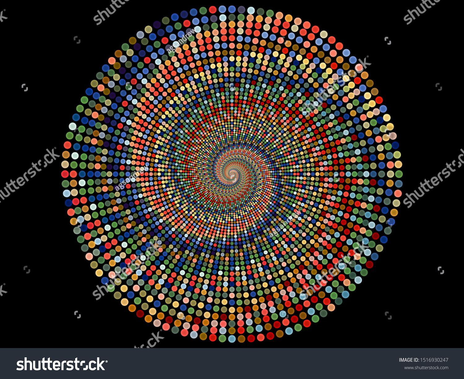 Background Of Small Circles On Tight Spiral Pattern On The Subject