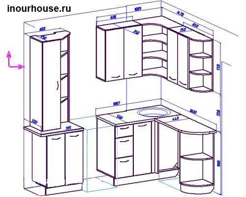 Как сделать угловую кухню
