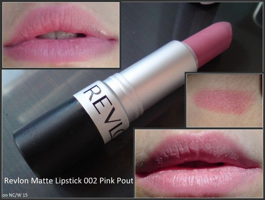 Photo of Revlon Matte Lipstick in Pink Pout. A pretty matte light pink. This is said to b…