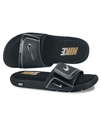 a05a59ba174f Black and Gold Nike slides. ohhhhh love it! ohhhhh love it! Nike Sandals