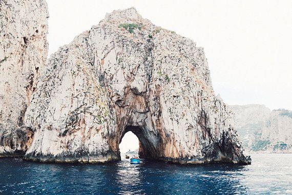 Stretch capris size XL (15-17) | Pretty beach, Capri ...  |Capri Beach Scenes