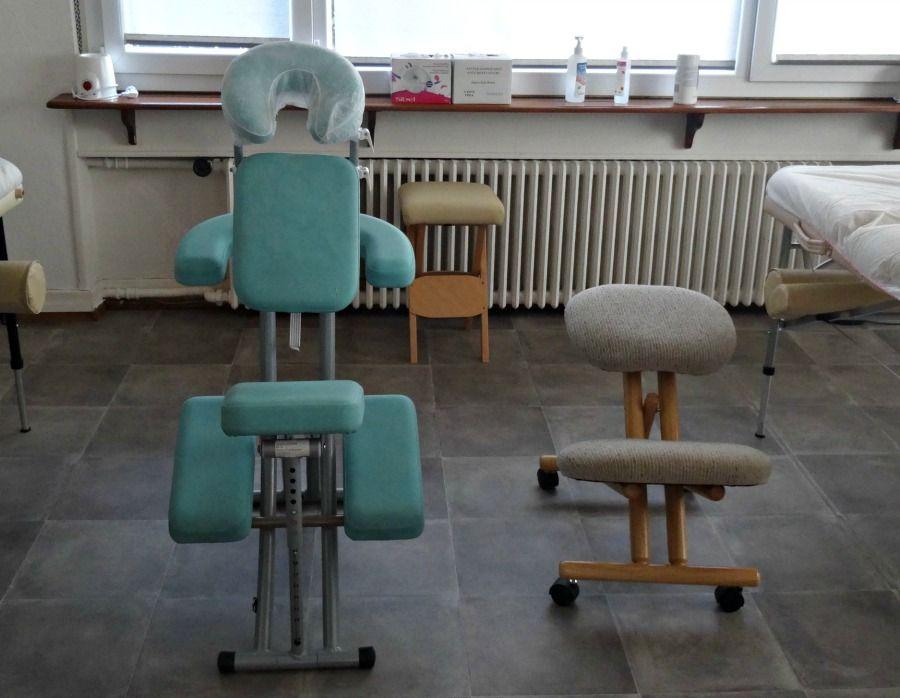 Matriel Mis Disposition En Cours Chaise De Massage Et Ergonomique Pour Le