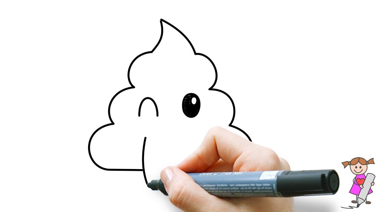 Leer Om Een Lachende Poep Emoticon Te Tekenen Voor Kinderen Youtube Tekenen Voor Kinderen Leer Tekenen Voor Kinderen